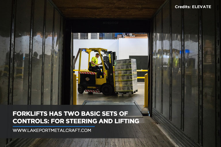 Forklifts has two basic sets of controls: for steering and lifting