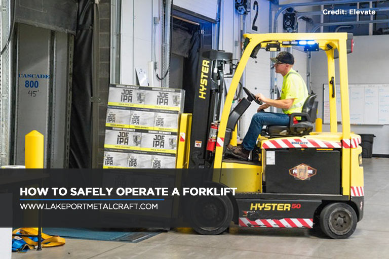 How to safely operate a forklift