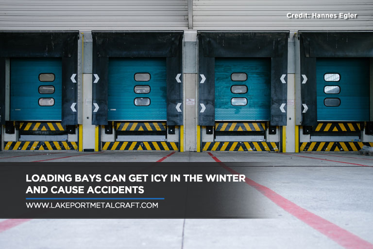 Loading bays can get icy in the winter and cause accidents