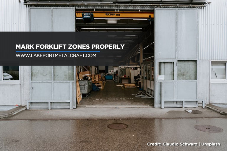 Mark forklift zones properly