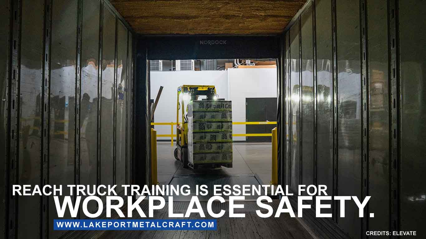 Reach truck training is essential for workplace safety.